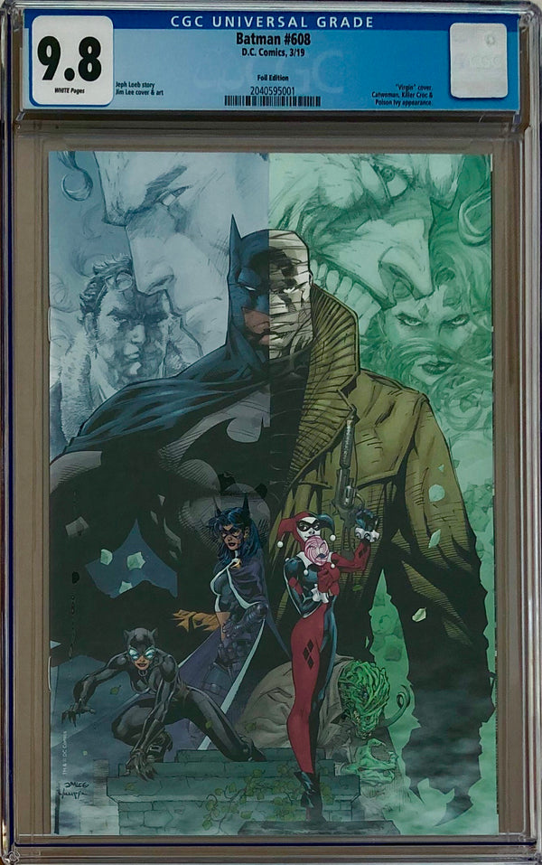Batman #608 Jim Lee RRP Black Foil Exclusive CGC 9.8