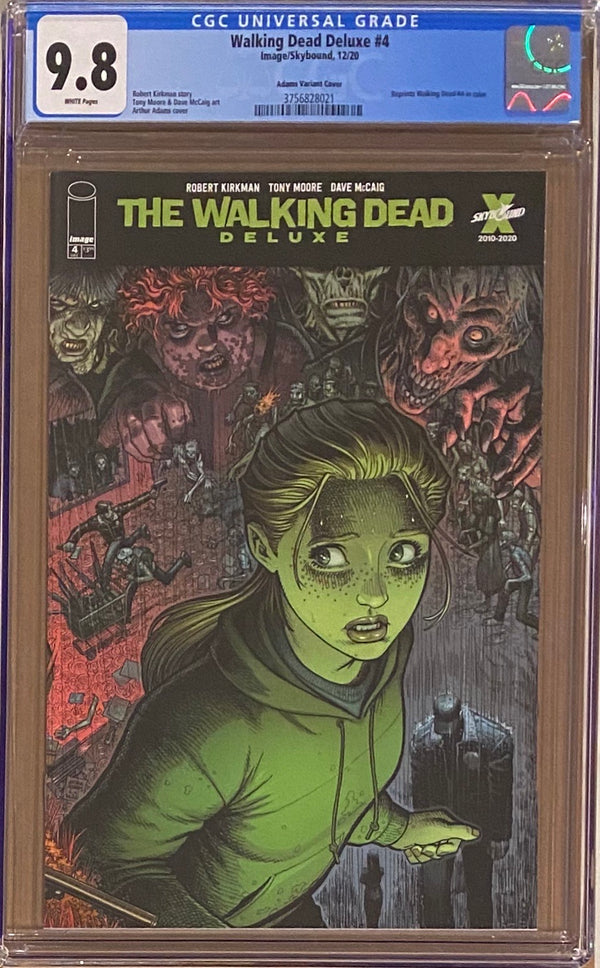 Walking Dead Deluxe #4 Adams Variant CGC 9.8