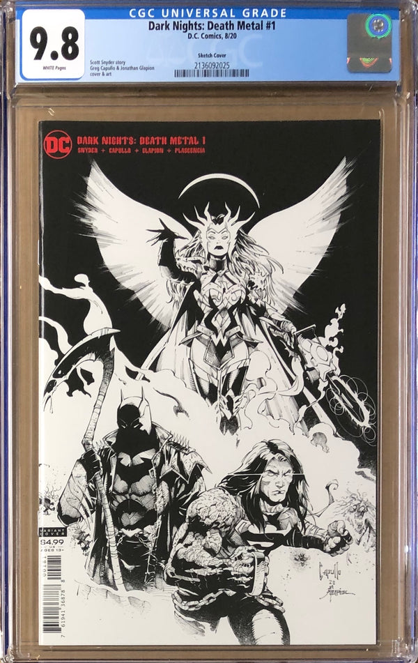 Dark Nights Death Metal #1 Capullo Party Sketch Variant CGC 9.8