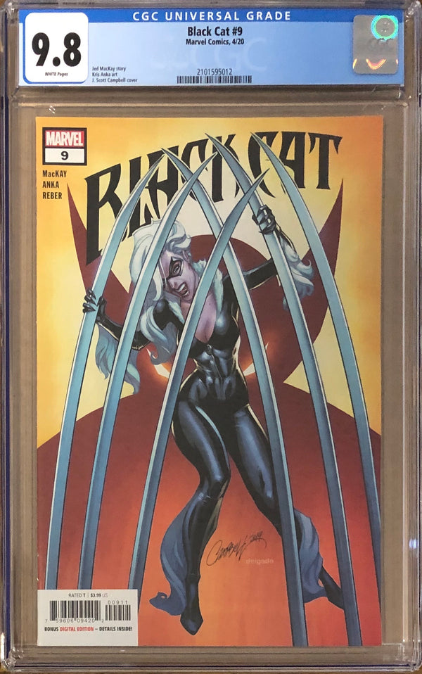 Black Cat #9 J. Scott Campbell CGC 9.8