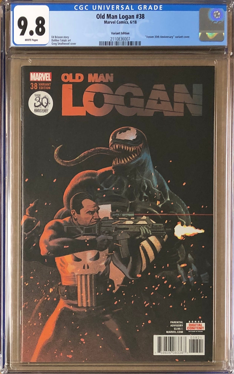 "Old Man Logan #38 ""Venom 30th Anniversary Variant"" CGC 9.8"