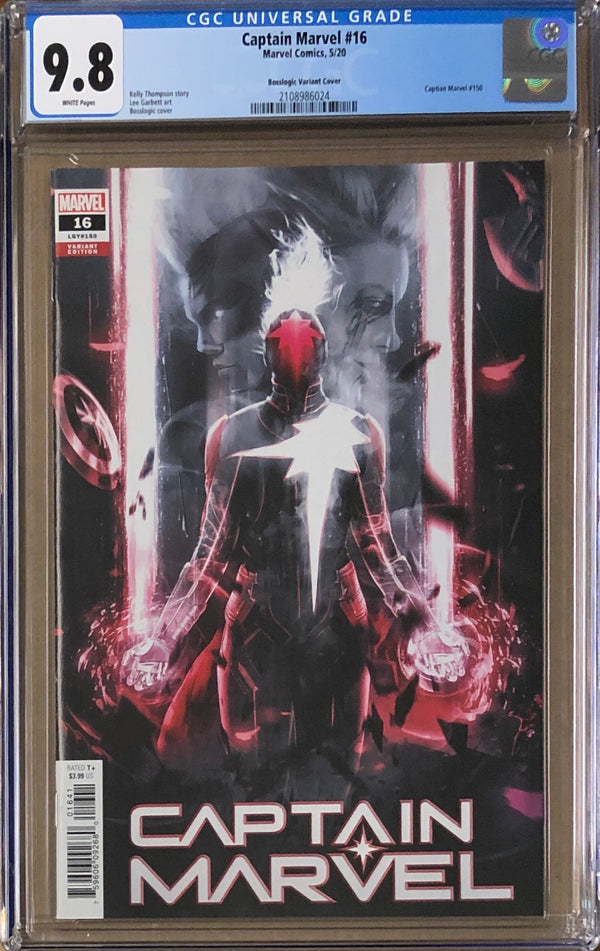 Captain Marvel #16 Boss Logic Variant CGC 9.8