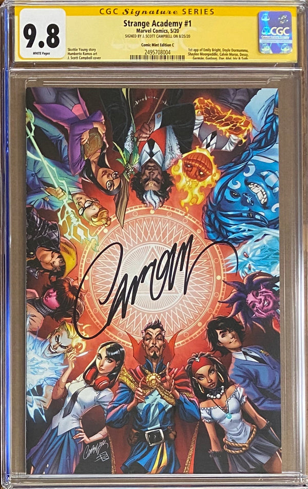 Strange Academy #1 J. Scott Campbell Virgin Exclusive CGC 9.8 SS