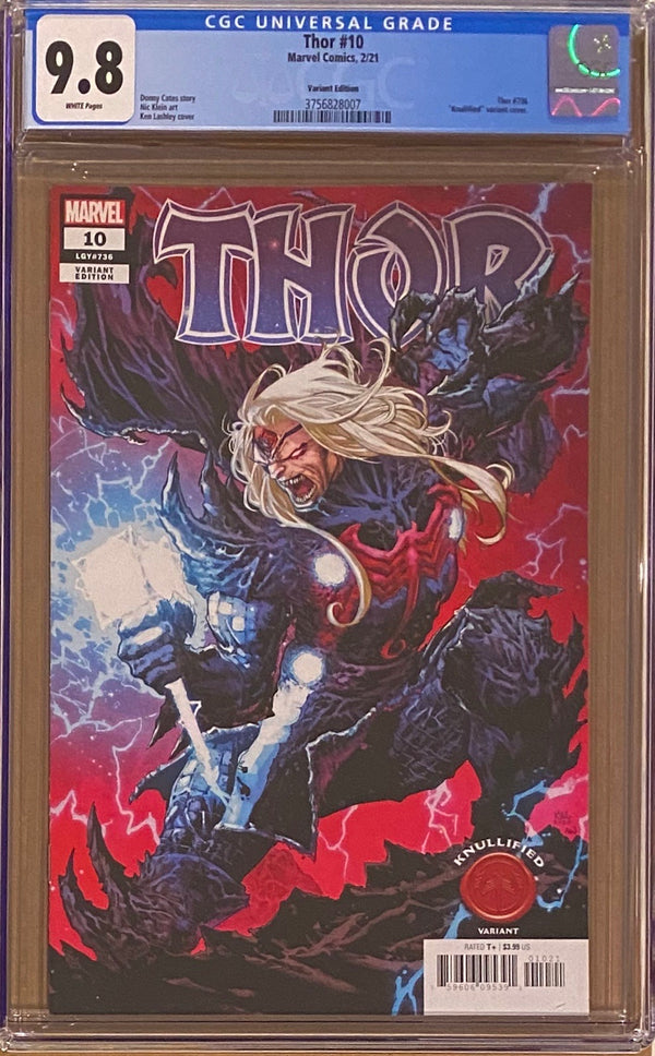 "Thor #10 ""Knullified"" Variant CGC 9.8"