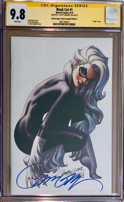Black Cat #1 J. Scott Campbell Golden Apple Comics Virgin Exclusive CGC 9.8 SS