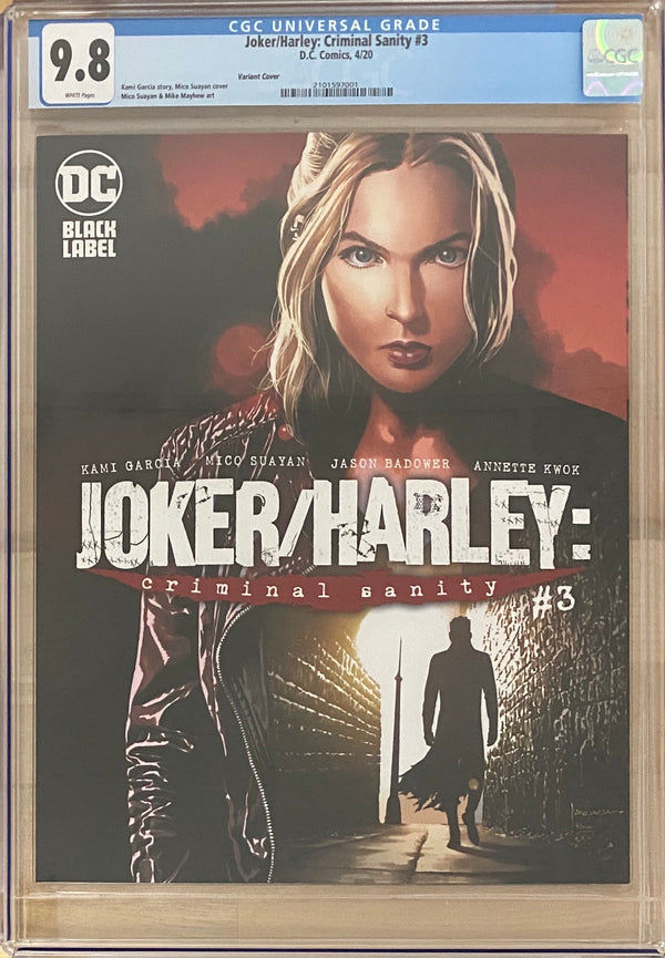 Joker/Harley: Criminal Sanity #3 Suayan Variant Cover DC Black Label CGC 9.8
