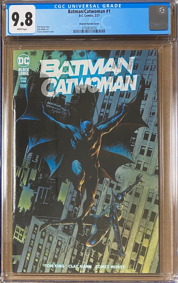Batman Catwoman #1 Charest Variant DC Black Label CGC 9.8