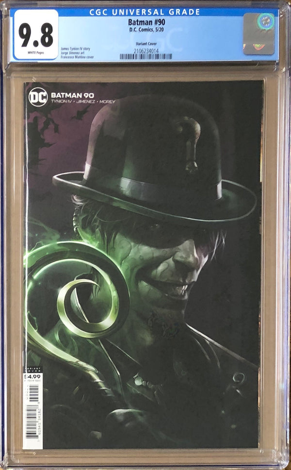 Batman #90 Mattina Variant CGC 9.8 1st Appearance of The Designer