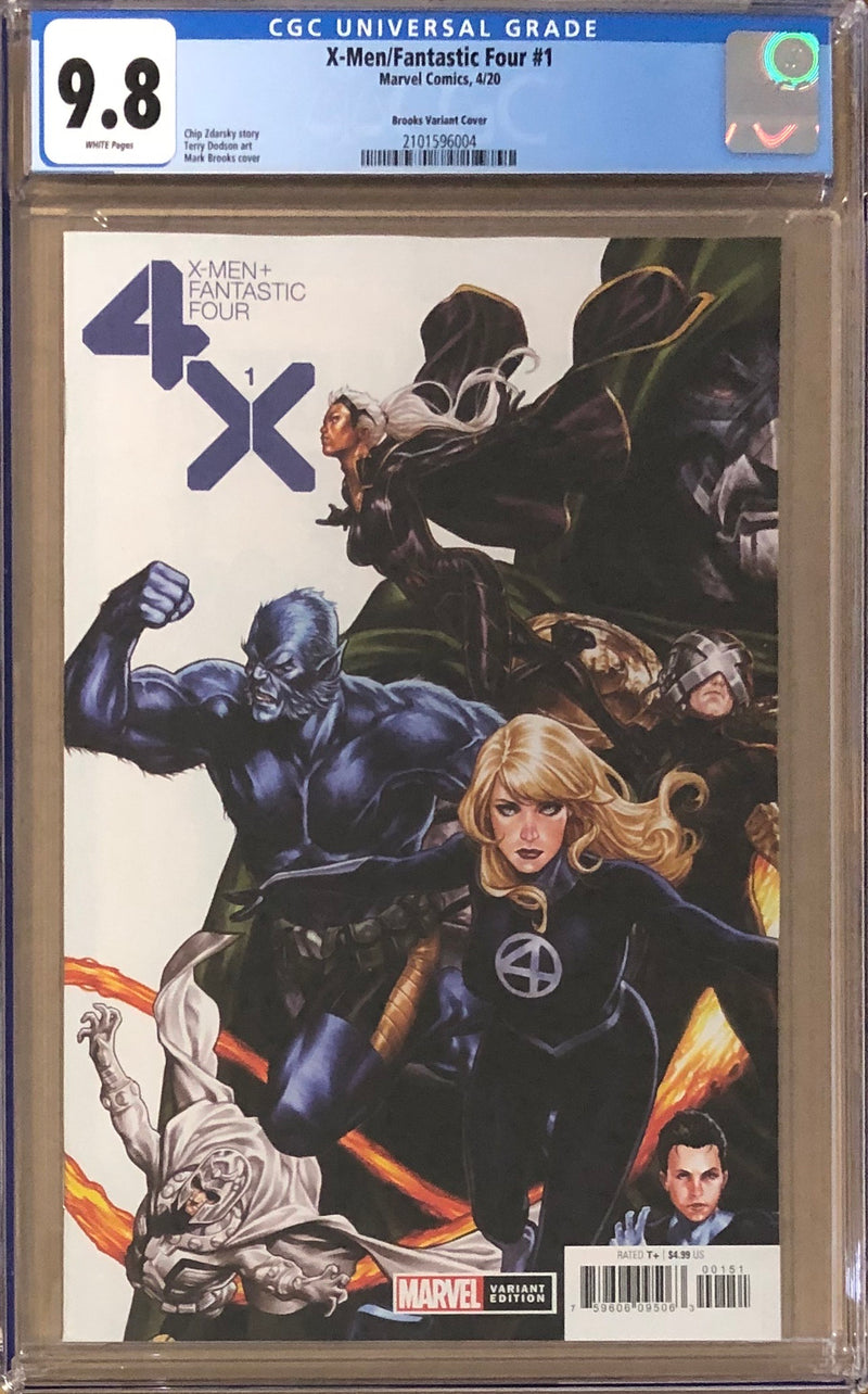 X-Men Fantastic Four #1 Brooks Connecting Variant CGC 9.8