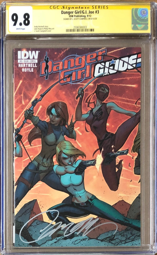 Danger Girl/G.I. Joe #3 CGC 9.8 SS