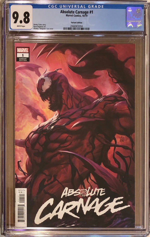 Absolute Carnage #1 Artgerm Variant CGC 9.8