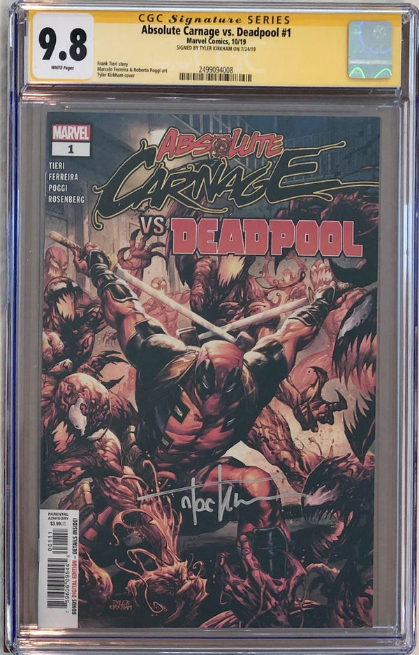 Absolute Carnage Vs Deadpool #1 CGC 9.8 SS