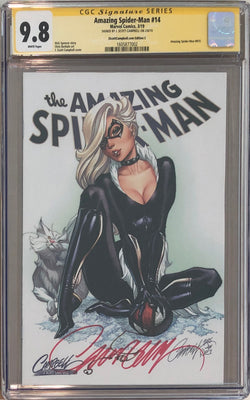 "Amazing Spider-Man #14 J. Scott Campbell Edition C ""Black Cat"" Exclusive CGC 9.8 SS"