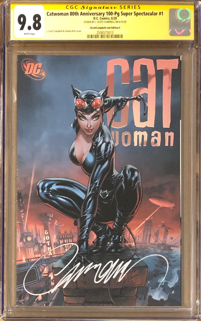SCOTT CAMPBELL EXCLUSIVE ~ DC COVER B SIGNED J CATWOMAN 80TH ANNIVERSARY #1