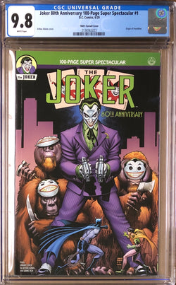Joker 80th Anniversary 100 Page Super Spectacular #1 Adams 1940s Variant CGC 9.8