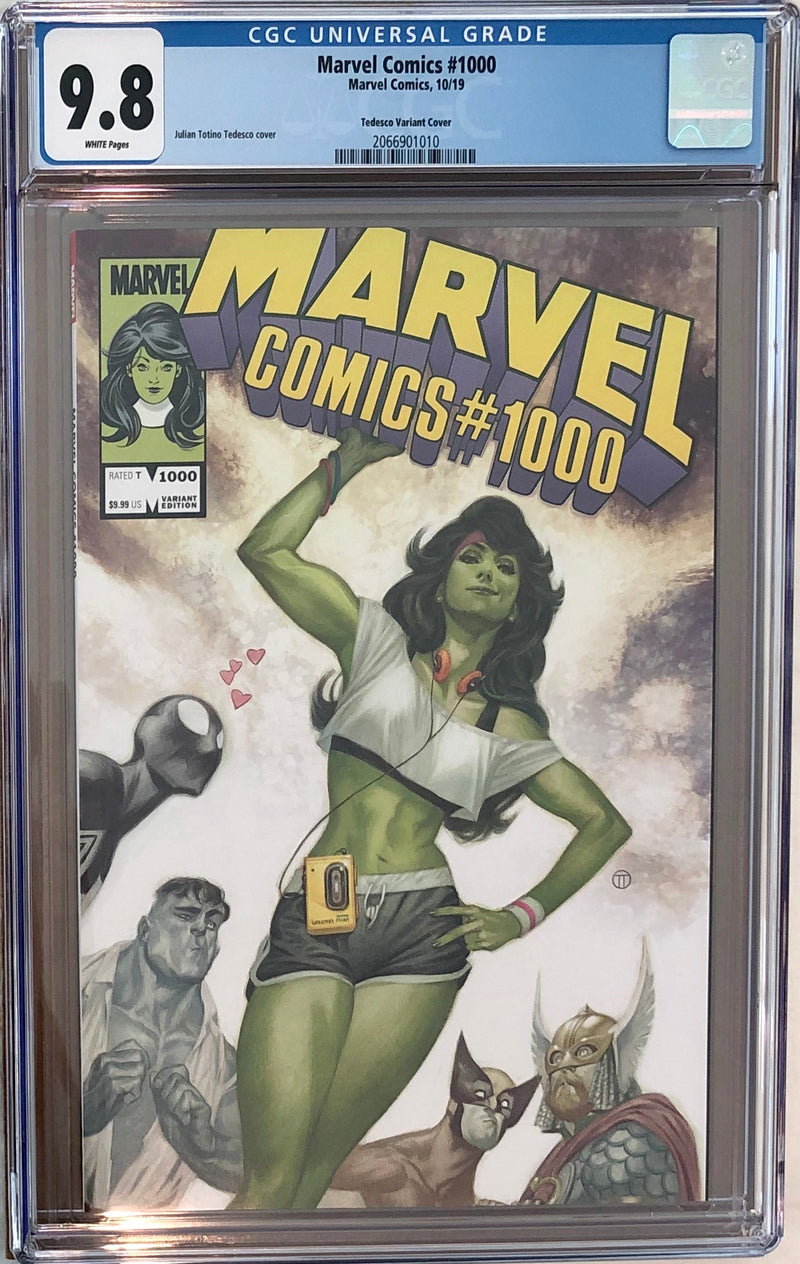 Marvel Comics #1000 Tedesco 80s Variant CGC 9.8