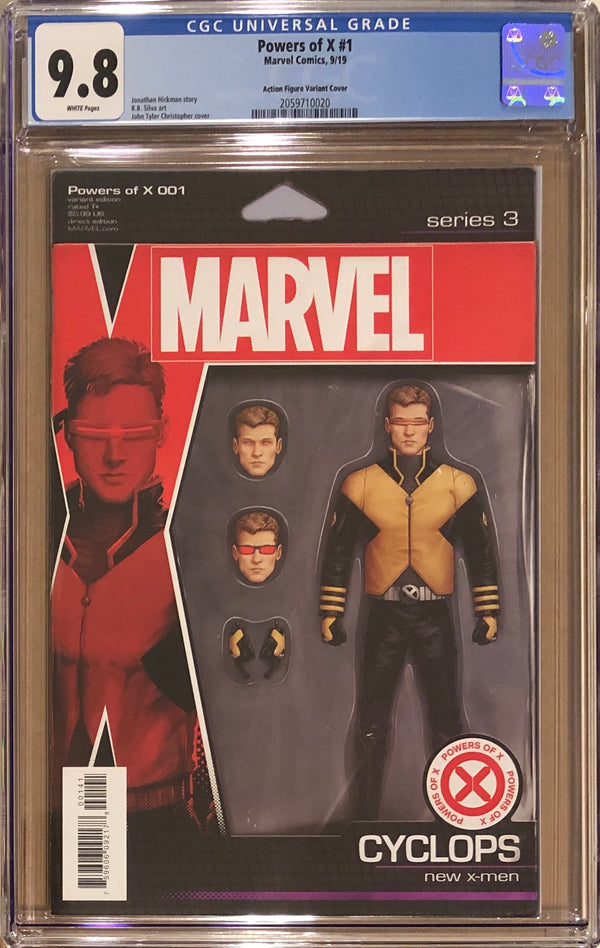 Powers of X #1 Cyclops Action Figure Variant CGC 9.8