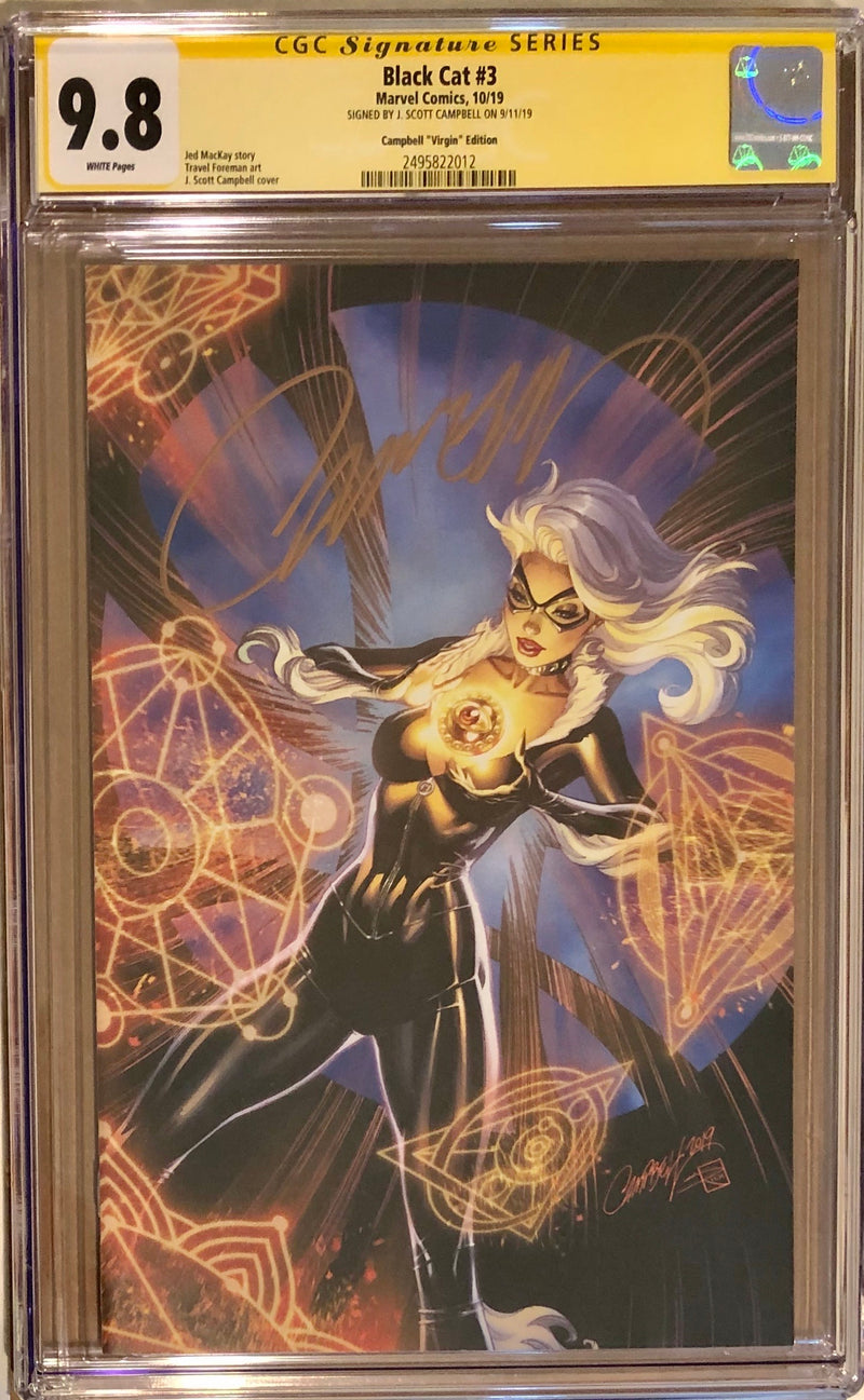 Black Cat #3 J. Scott Campbell Virgin 1:100 Variant CGC 9.8 SS