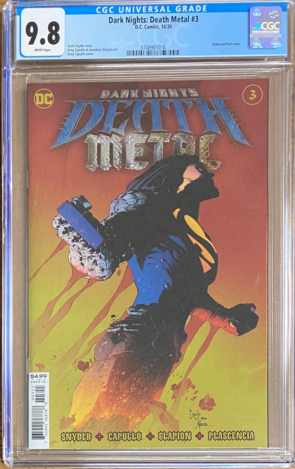 Dark Nights Death Metal #3 CGC 9.8