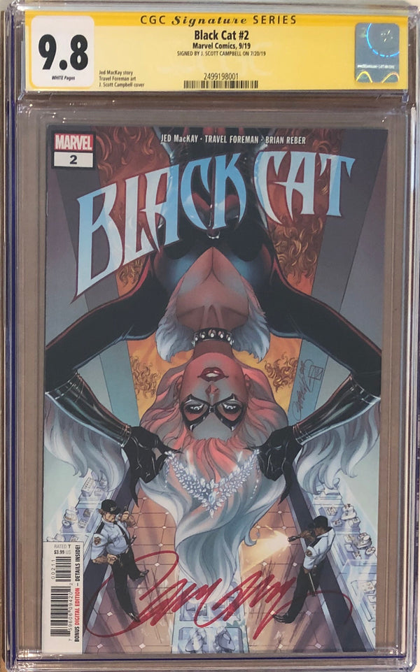 Black Cat #2 J. Scott Campbell CGC 9.8 SS