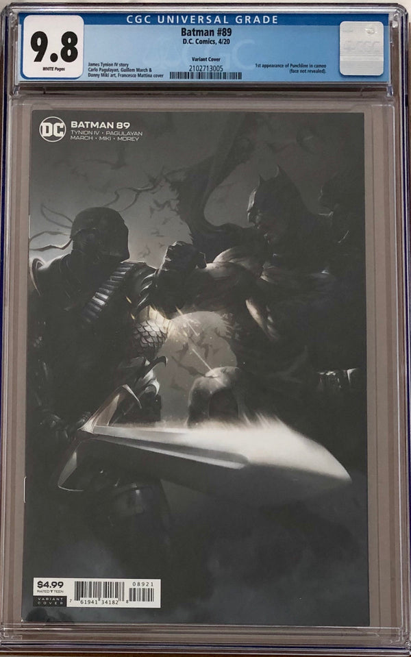 Batman #89 Mattina Variant CGC 9.8 1st Appearance of Punchline in Cameo