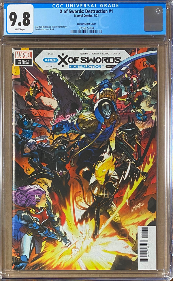 X of Swords: Destruction #1 Larraz Connecting Cover Variant CGC 9.8