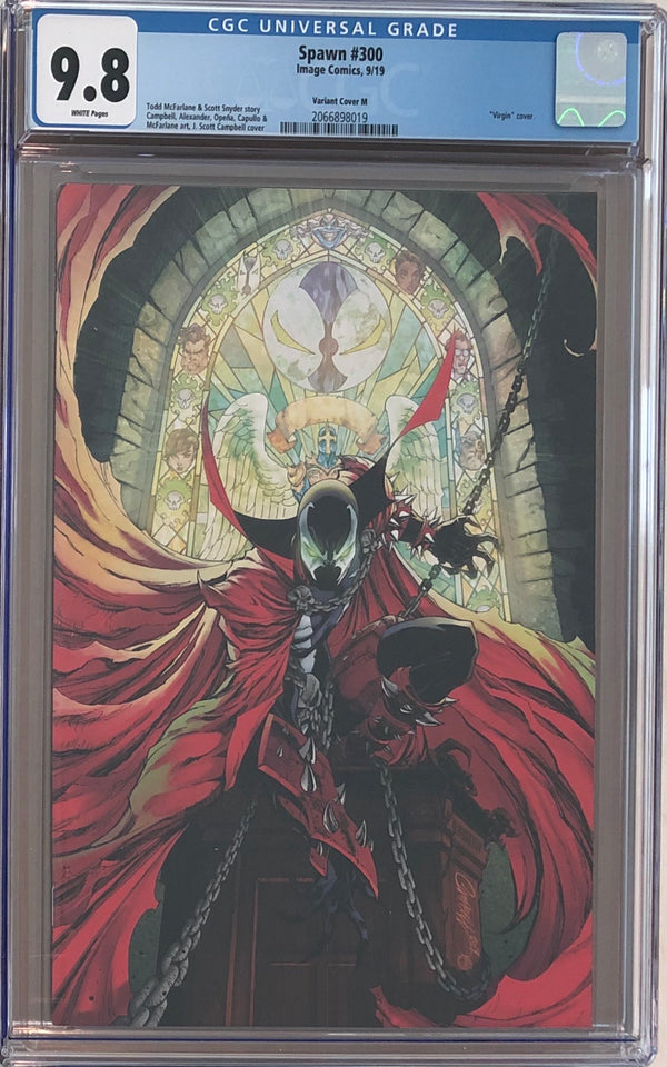 Spawn #300 J. Scott Campbell Virgin Variant M CGC 9.8