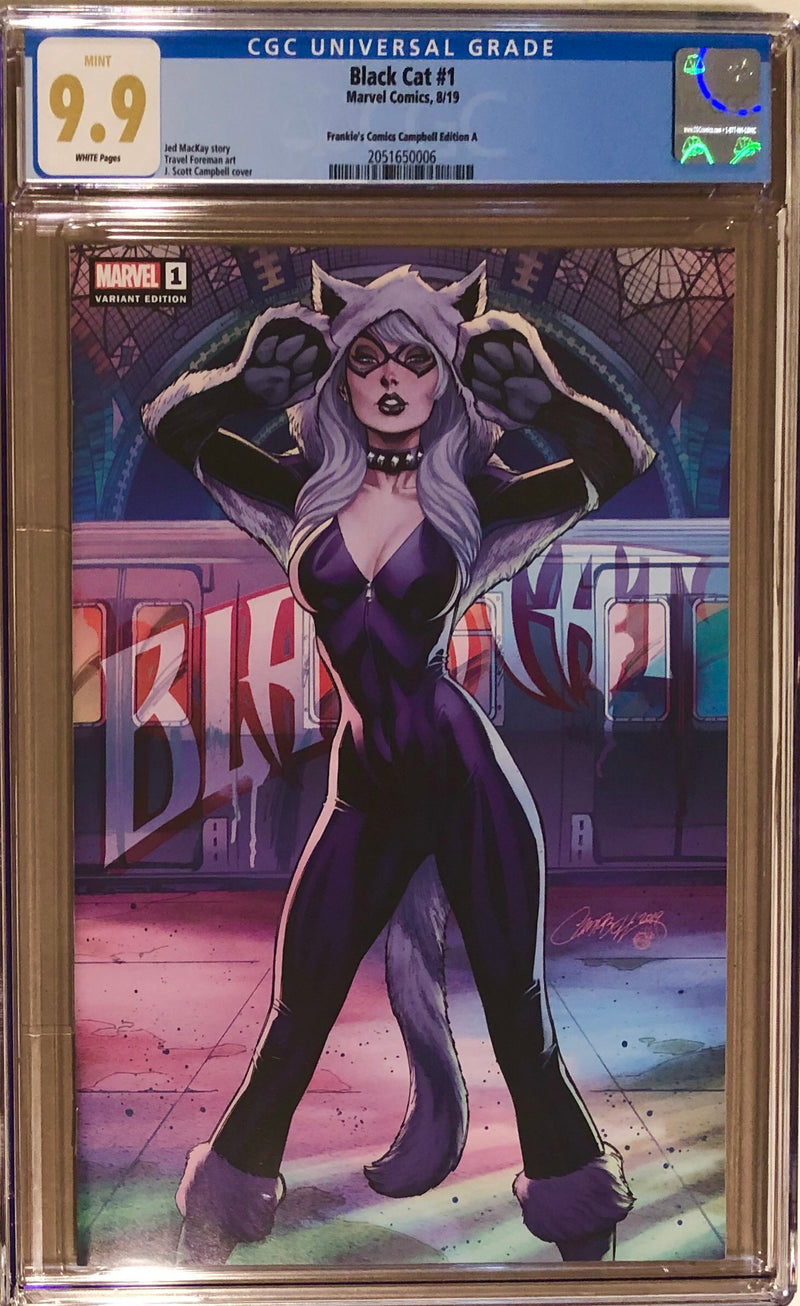 Black Cat #1 J. Scott Campbell Frankie's Comics Exclusive CGC 9.9