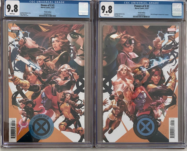 House of X #2 & Powers of X #2 Putri Connecting Variant Set CGC 9.8