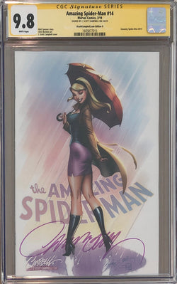 "Amazing Spider-Man #14 J. Scott Campbell Edition D ""Gwen Stacy"" Exclusive CGC 9.8 SS"