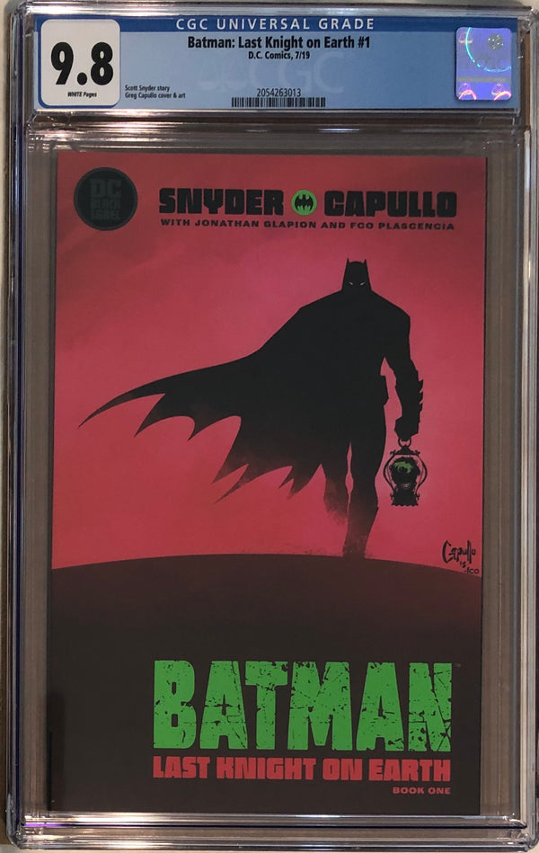 Batman: Last Knight On Earth #1 DC Black Label CGC 9.8