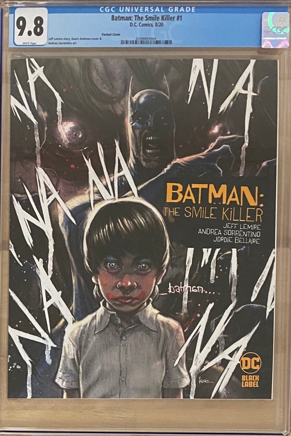 Batman: The Smile Killer #1 Variant DC Black Label CGC 9.8