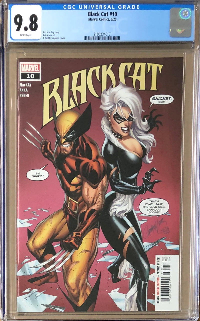 Black Cat #10 J. Scott Campbell CGC 9.8