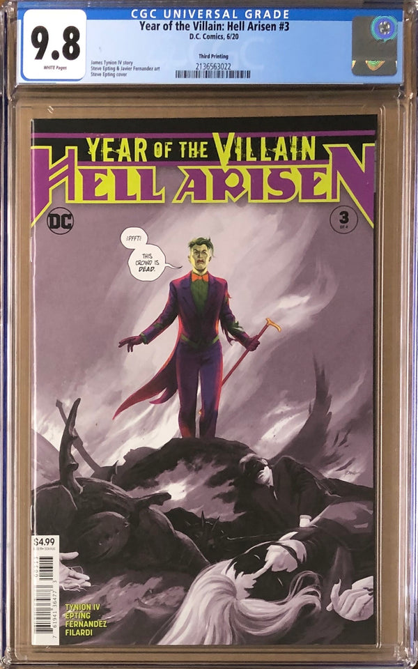 Year of the Villain: Hell Arisen #3 Third Printing CGC 9.8 - 1st Full Appearance Punchline