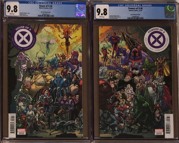 House of X #6 & Powers of X #6 Garron Connecting Variant Set CGC 9.8