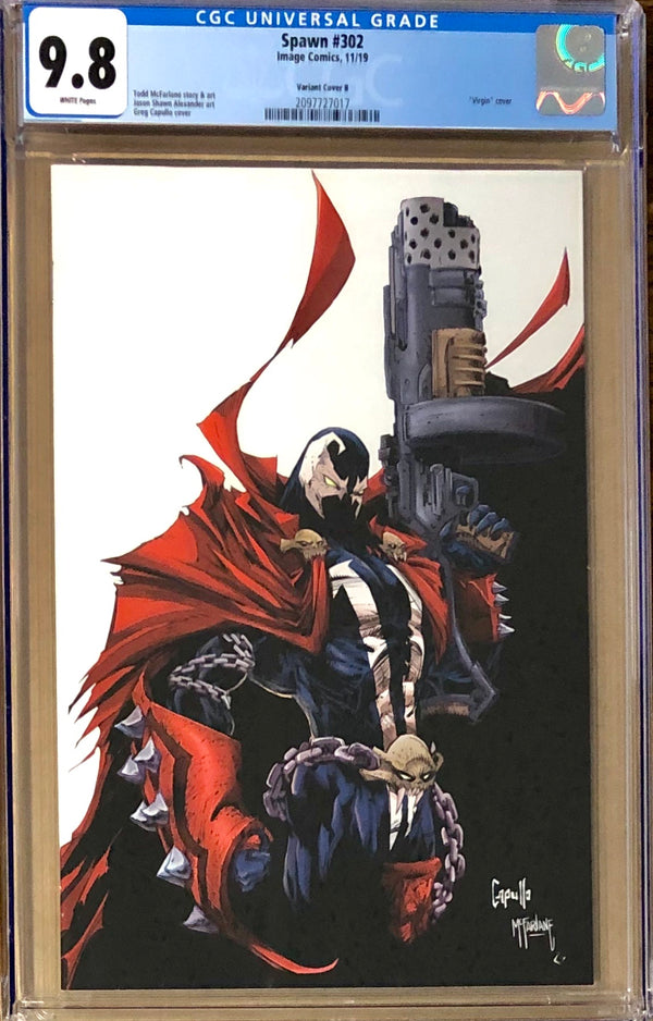 Spawn #302 Capullo Virgin Variant B CGC 9.8