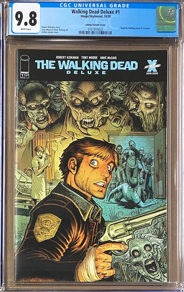Walking Dead Deluxe #1 Adams Variant CGC 9.8