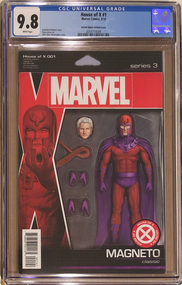 House of X #1 Magneto Action Figure Variant CGC 9.8