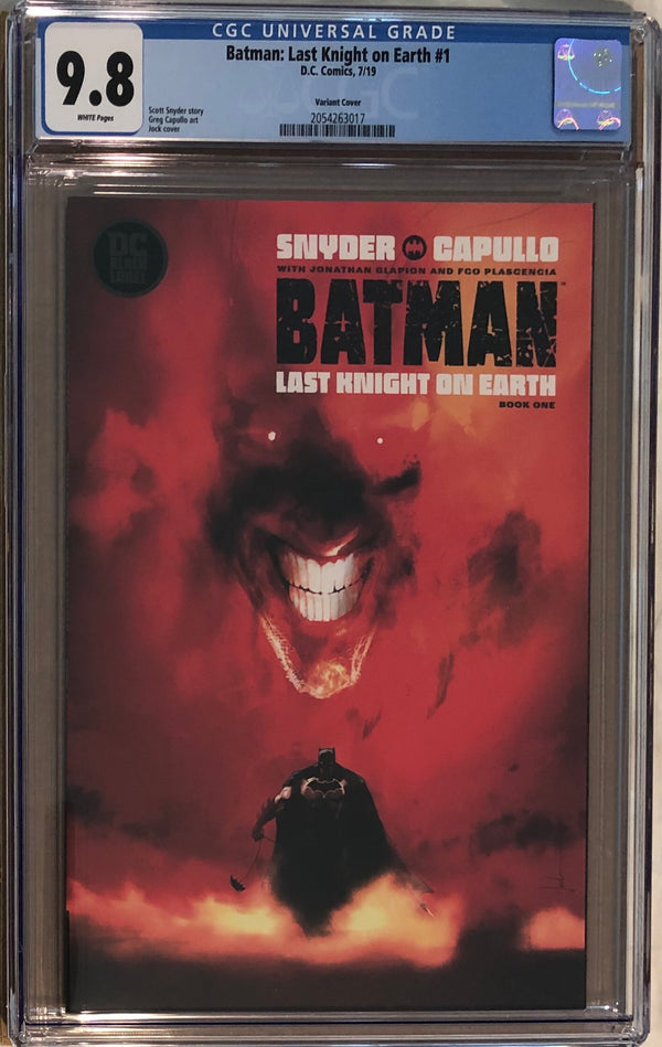 Batman: Last Knight On Earth #1 Jock Variant DC Black Label CGC 9.8