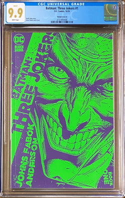 Batman: Three Jokers #1 1:25 Retailer Incentive Variant B DC Black Label CGC 9.9