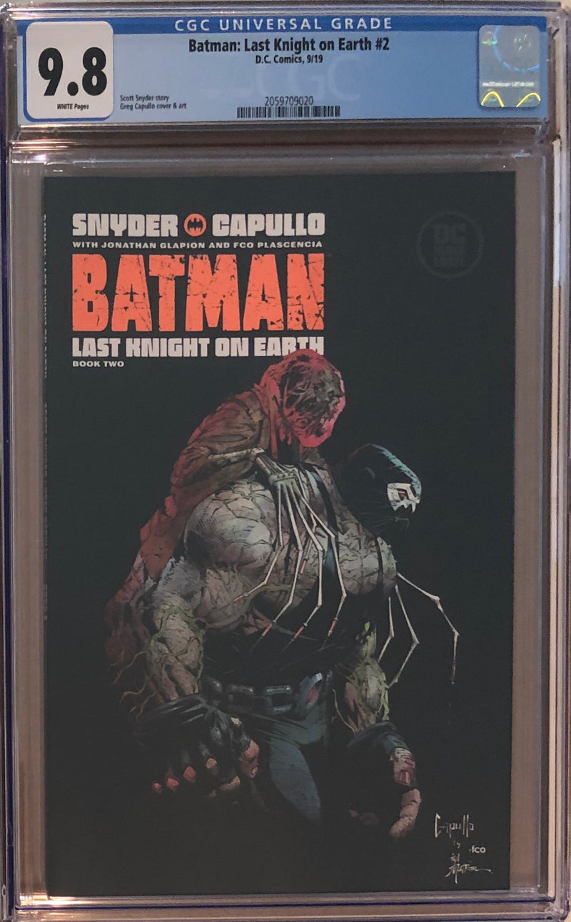 Batman: Last Knight On Earth #2 DC Black Label CGC 9.8