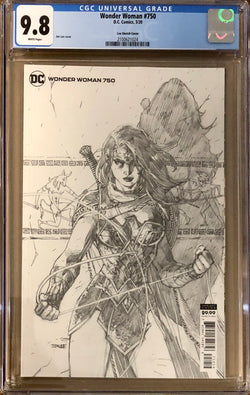 Wonder Woman #750 Jim Lee 1:100 Retailer Incentive Variant CGC 9.8