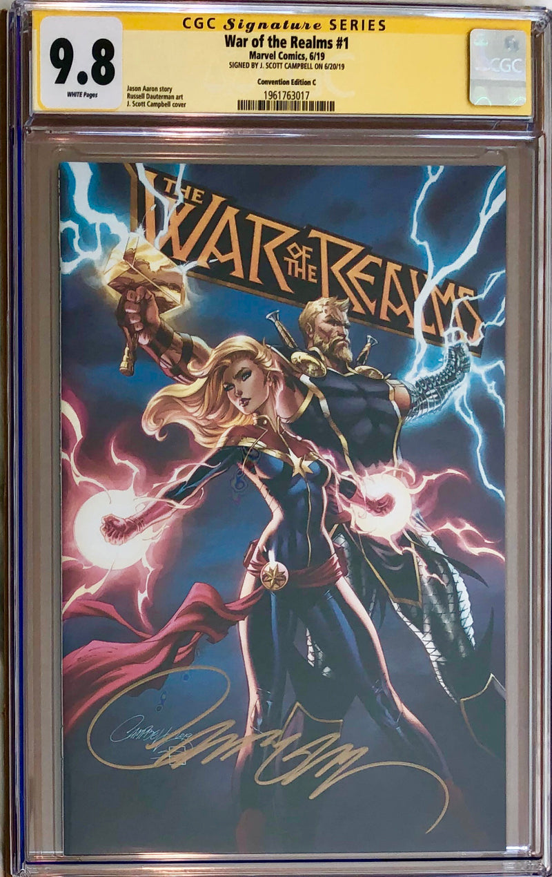 War of the Realms #1 J. Scott Campbell Con Exclusive C CGC 9.8 SS