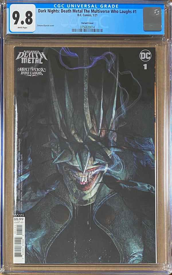 Dark Nights Death Metal: The Multiverse Who Laughs #1 Bianchi Retailer Incentive Variant CGC 9.8