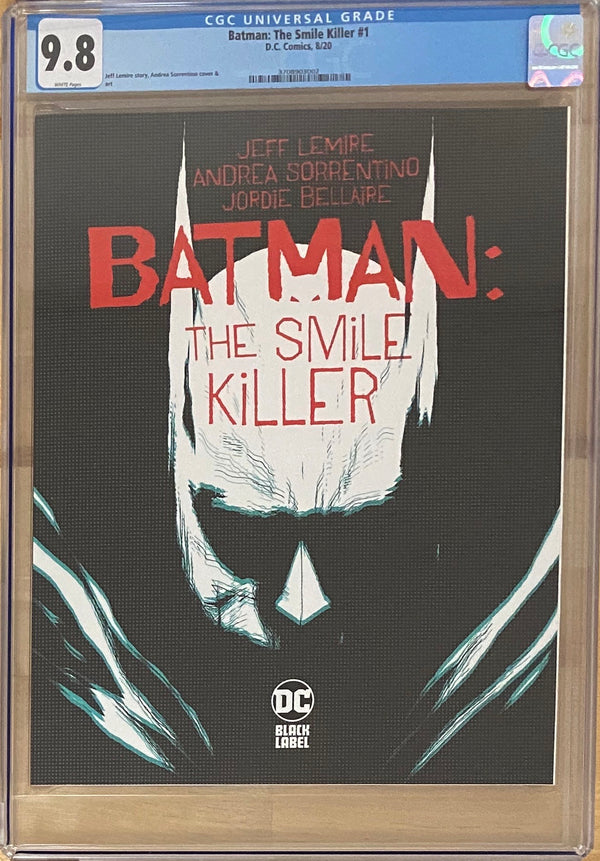 Batman: The Smile Killer #1 DC Black Label CGC 9.8