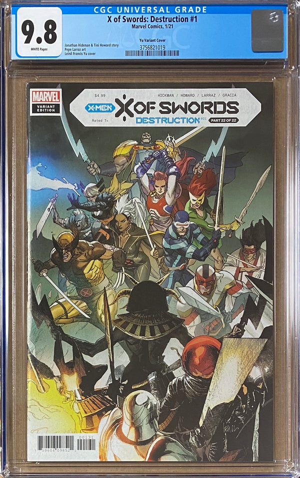 X of Swords: Destruction #1 Yu Variant CGC 9.8