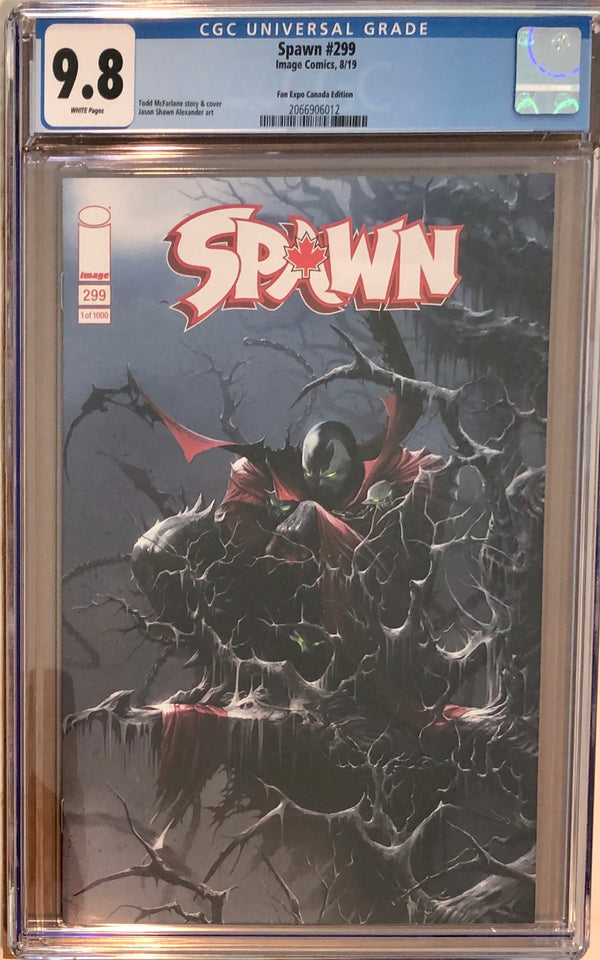 Spawn #299 Todd McFarlane Fan Expo Canada Variant CGC 9.8