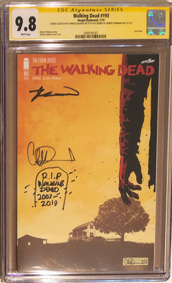 The Walking Dead #193 CGC 9.8 SS Rare Double Signed and Sketched! - Final Issue! - 007