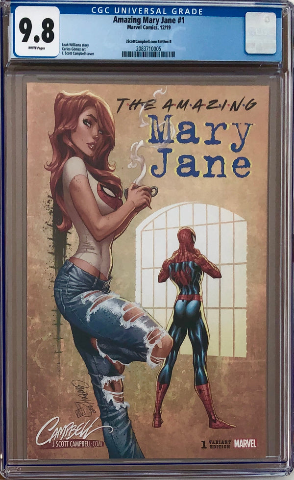 Amazing Mary Jane #1 J. Scott Campbell A - E Exclusives Set CGC 9.8