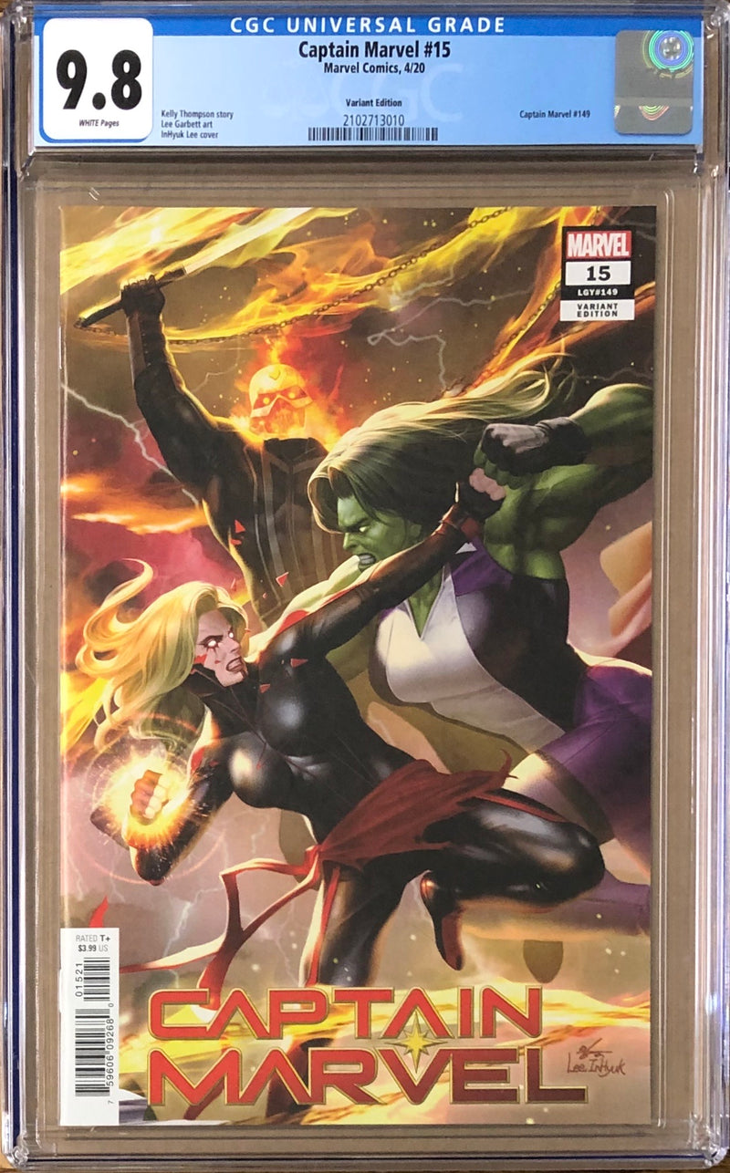 Captain Marvel #15 InHyuk Lee Connecting Variant CGC 9.8